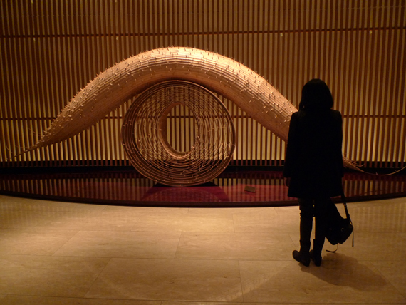 A beautiful Art installation in the lobby of our hotel.  We stayed at the gorgeous Peninsula hotel in Ginza